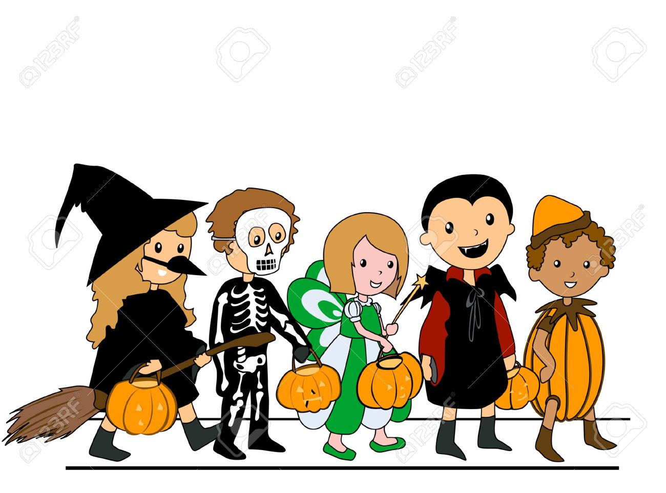 http://previews.123rf.com/images/lenm/lenm0709/lenm070900078/1768758-Kids-walking-in-Halloween-Costumes-Stock-Vector-cartoon.jpg