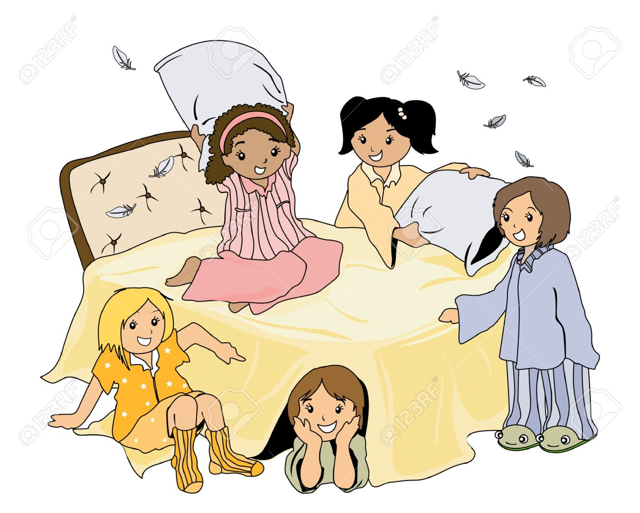 pajama party royalty free cliparts vectors and stock illustration rh 123rf com Pajama Day pajama party clipart free