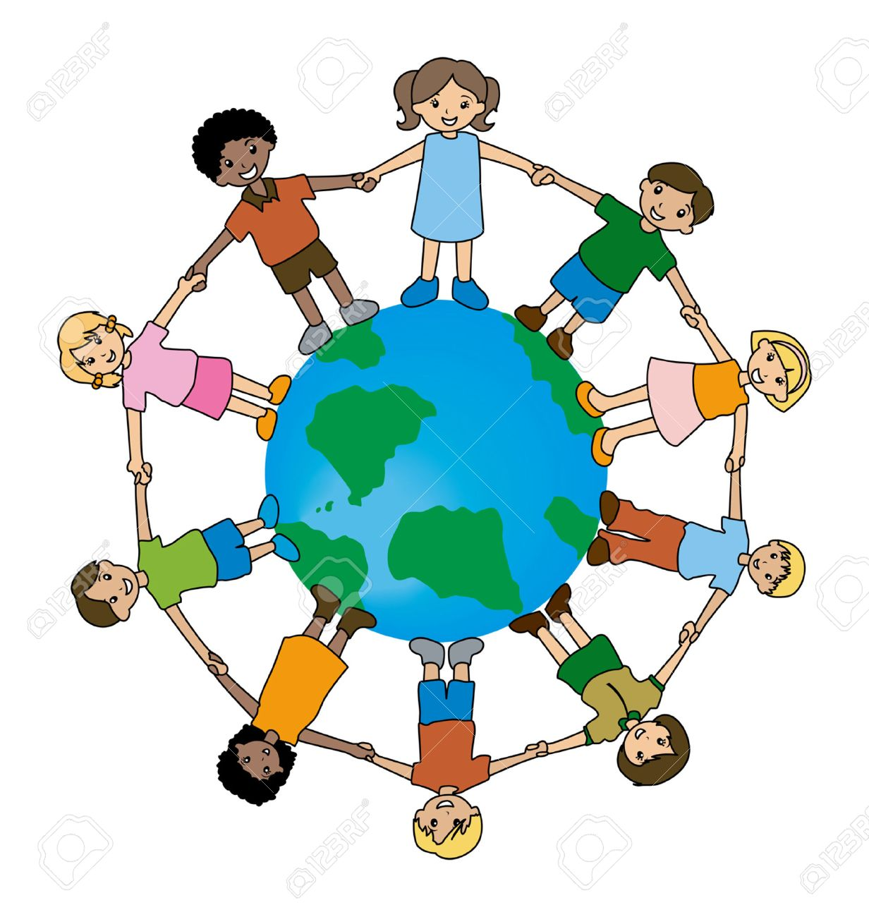 illustration of kids around the world royalty free cliparts vectors rh 123rf com Multicultural Clip Art From around the World Food around the World Clip Art