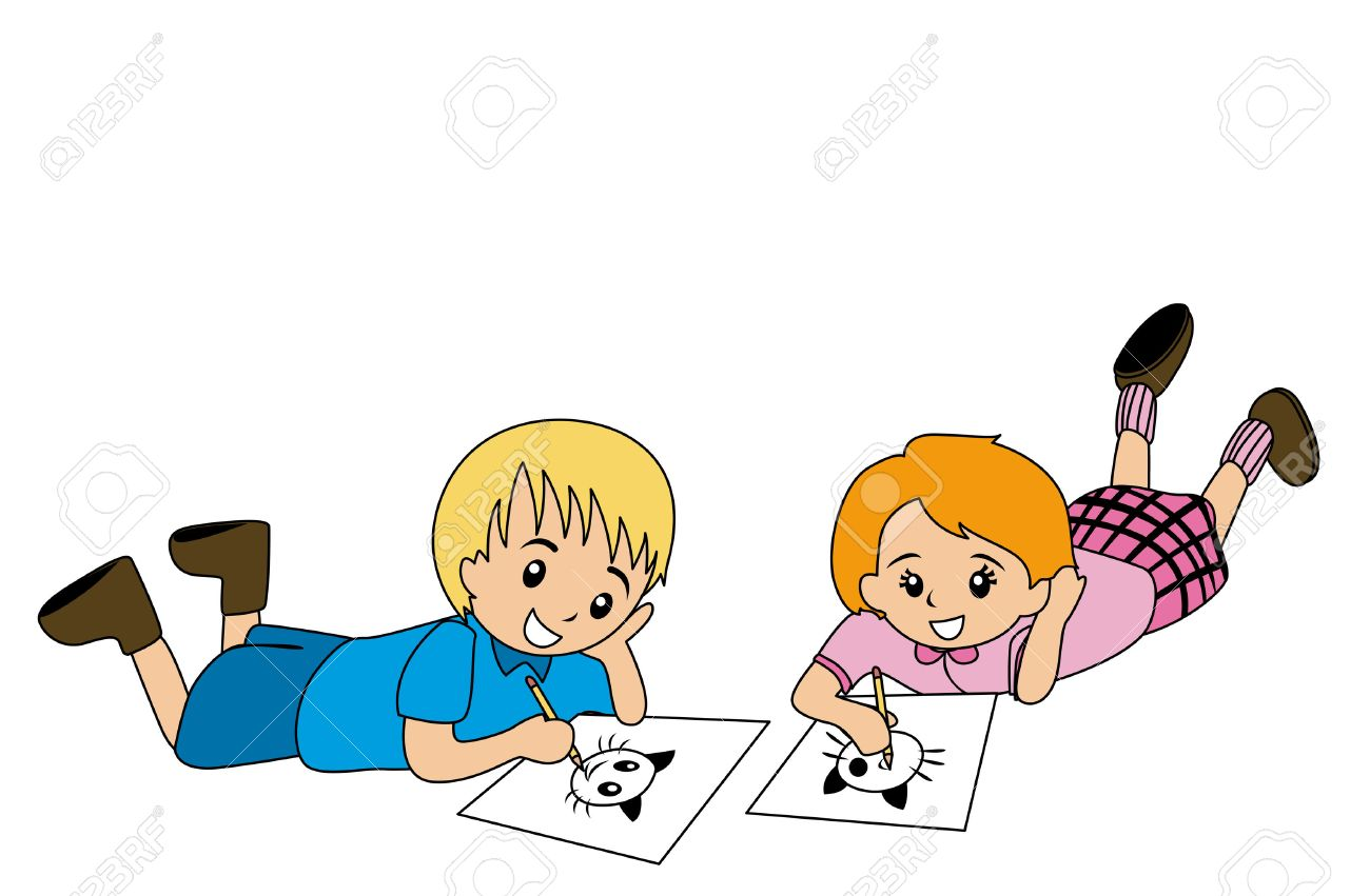 illlustration of kids drawing on paper stock vector 1830357 - Drawing Paper For Kids