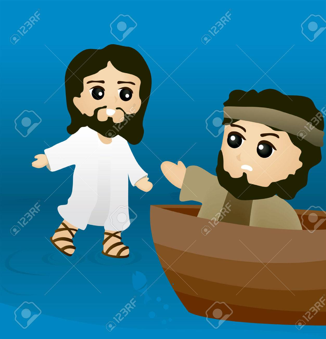 bible stories jesus walks on water royalty free cliparts vectors