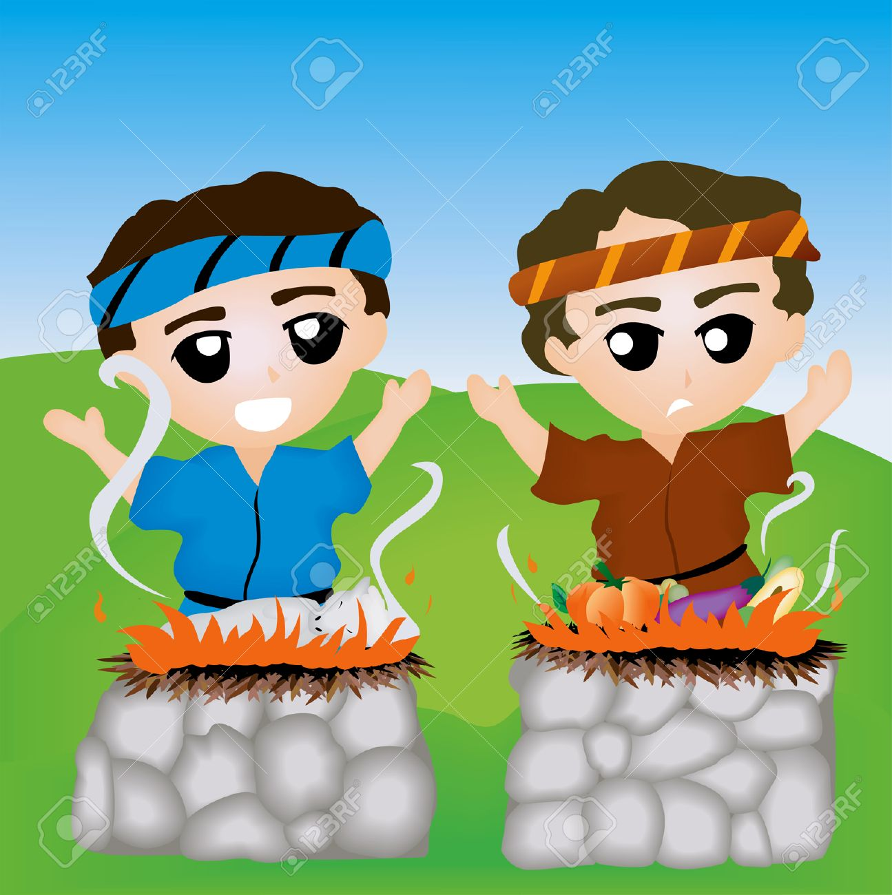 Bible Stories: Cain And Abel Royalty Free Cliparts, Vectors, And ...