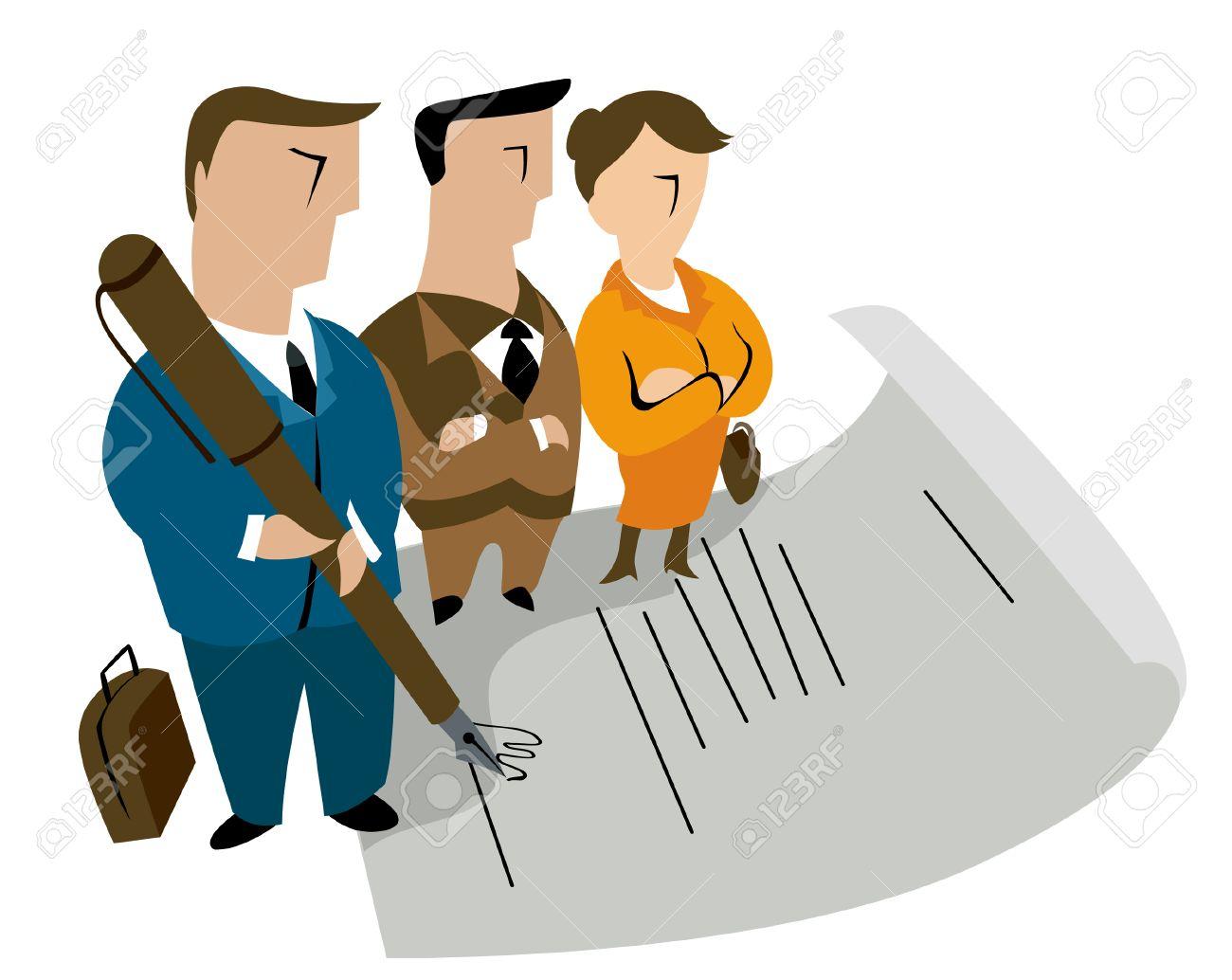 Resultado de imagen de firma contrato dibujo