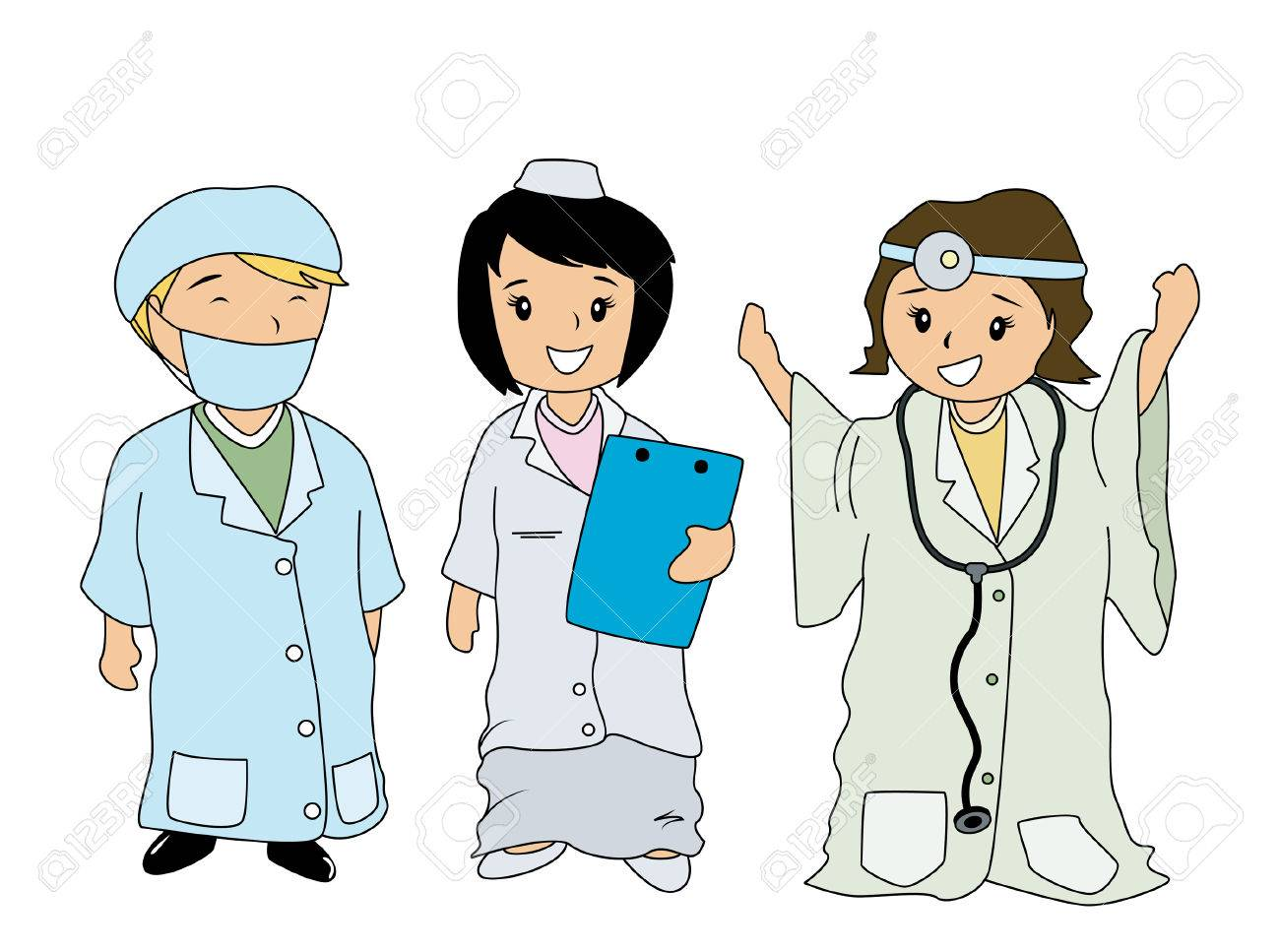 Children In Medical Costumes Royalty Free Cliparts, Vectors, And ...