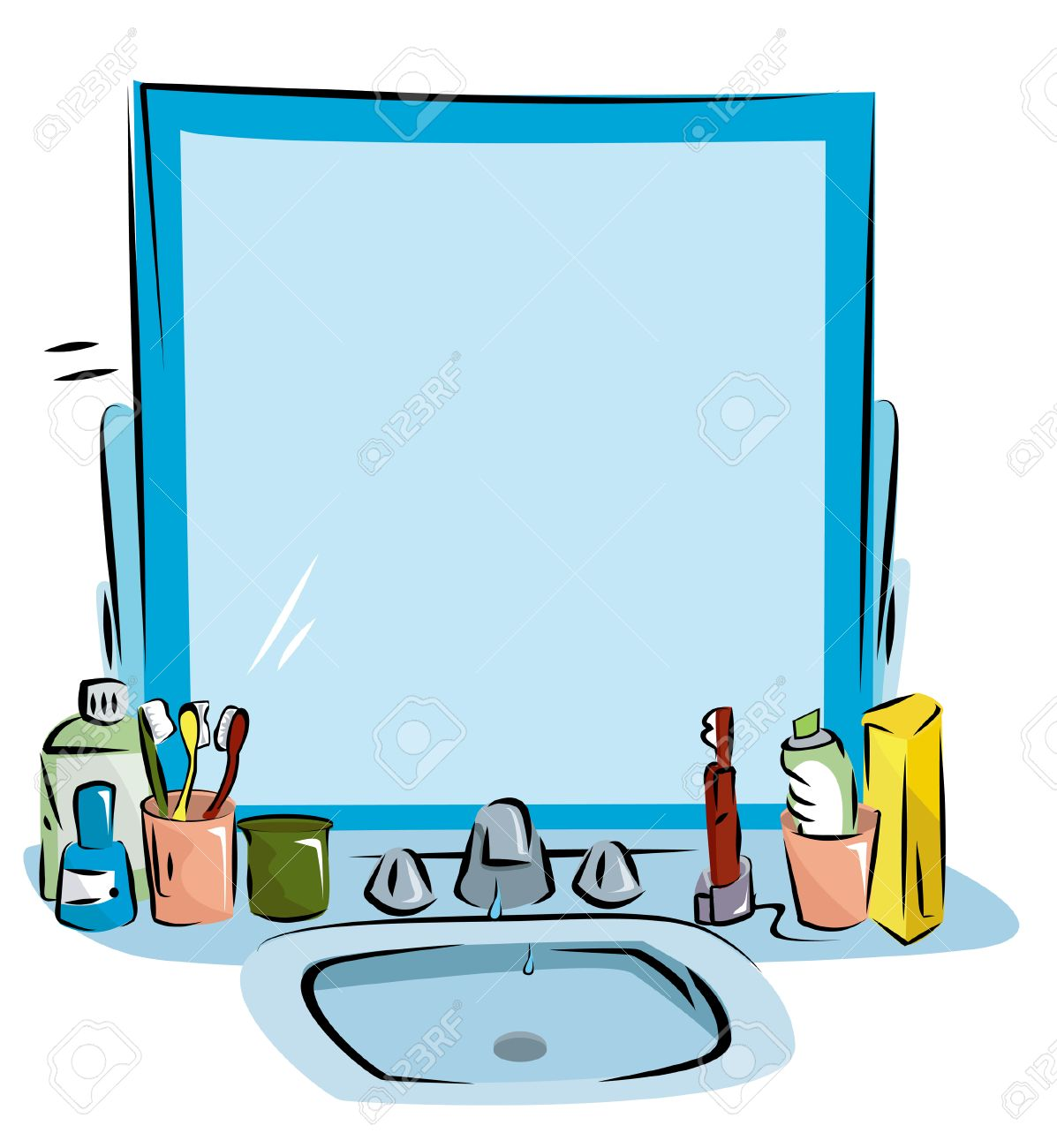 Bathroom Sink Background Royalty Free Cliparts, Vectors, And Stock ... for Bathroom Sink Clipart  587fsj
