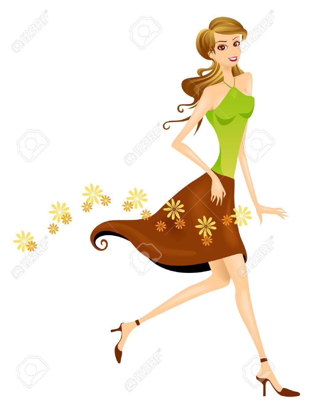 Girl Walking - 3097643