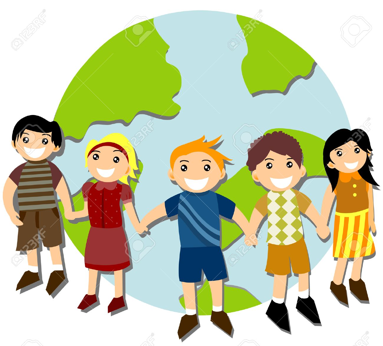 Children Around The World Royalty Free Cliparts, Vectors, And ...