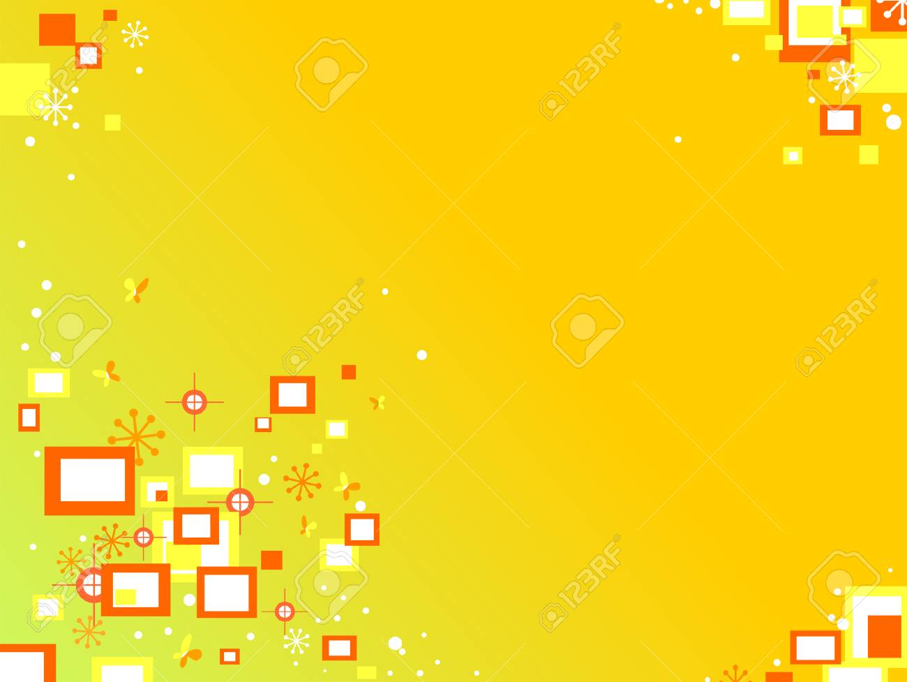 Squares Background in Yellow and Orange Stock Vector - 3319116