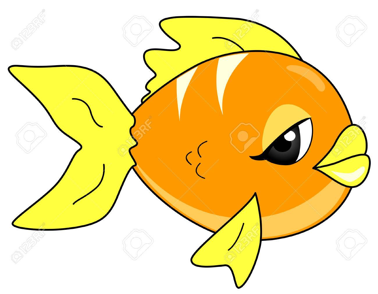 Gold Fish Stock Vector - 3340786