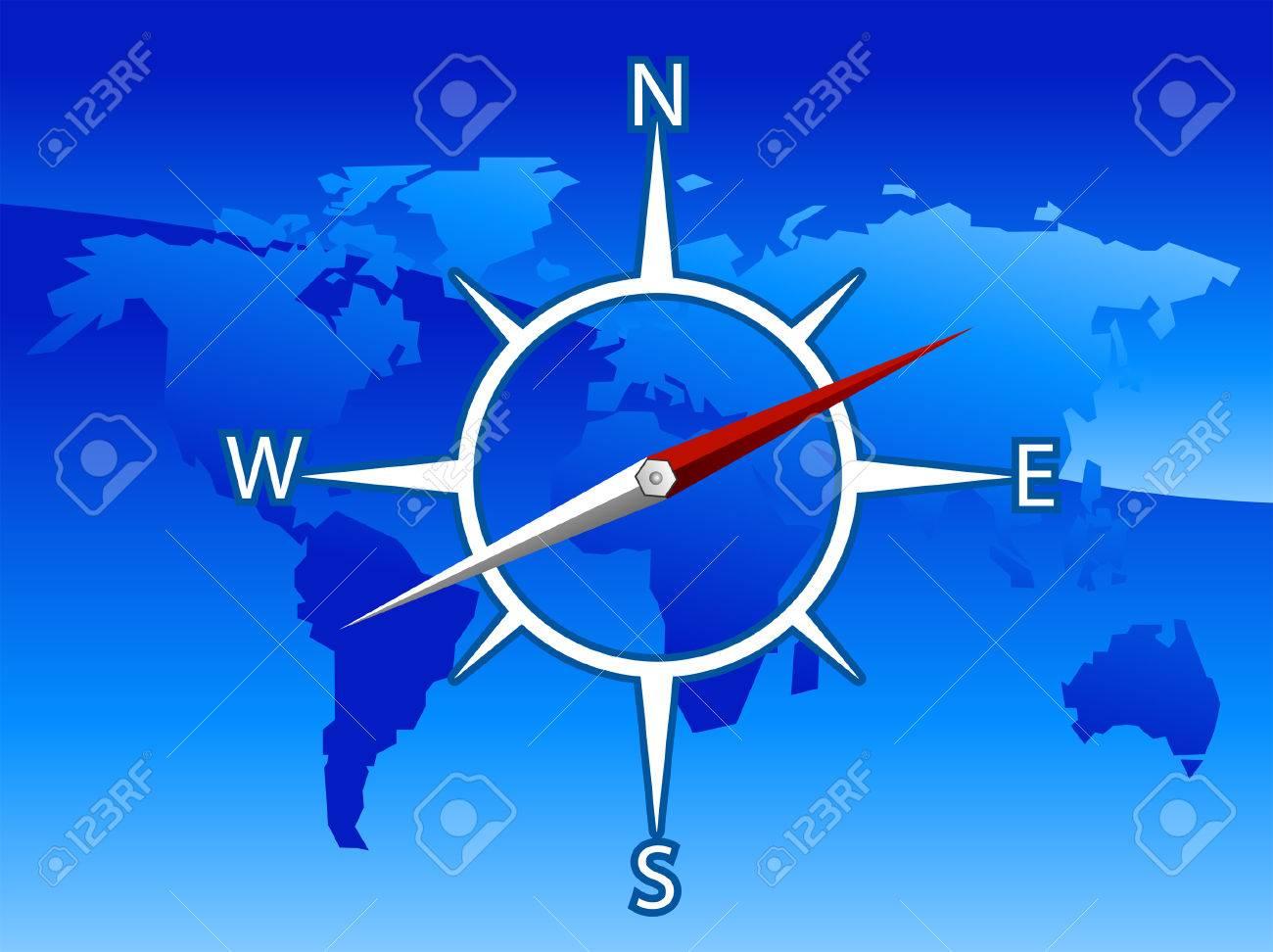 World Compass Illustration