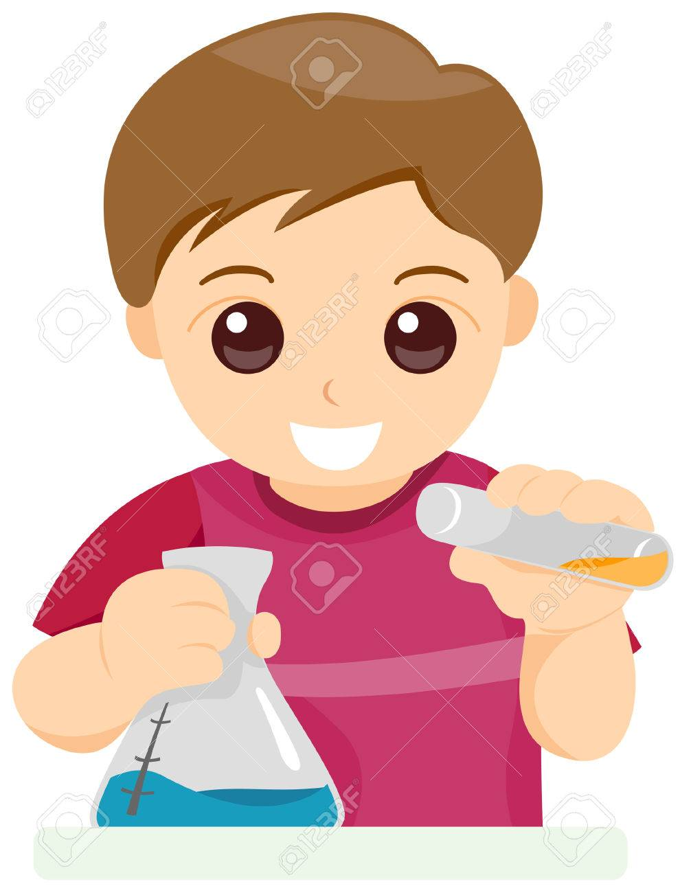 Child Experimenting with Clipping Path Stock Vector - 3464266