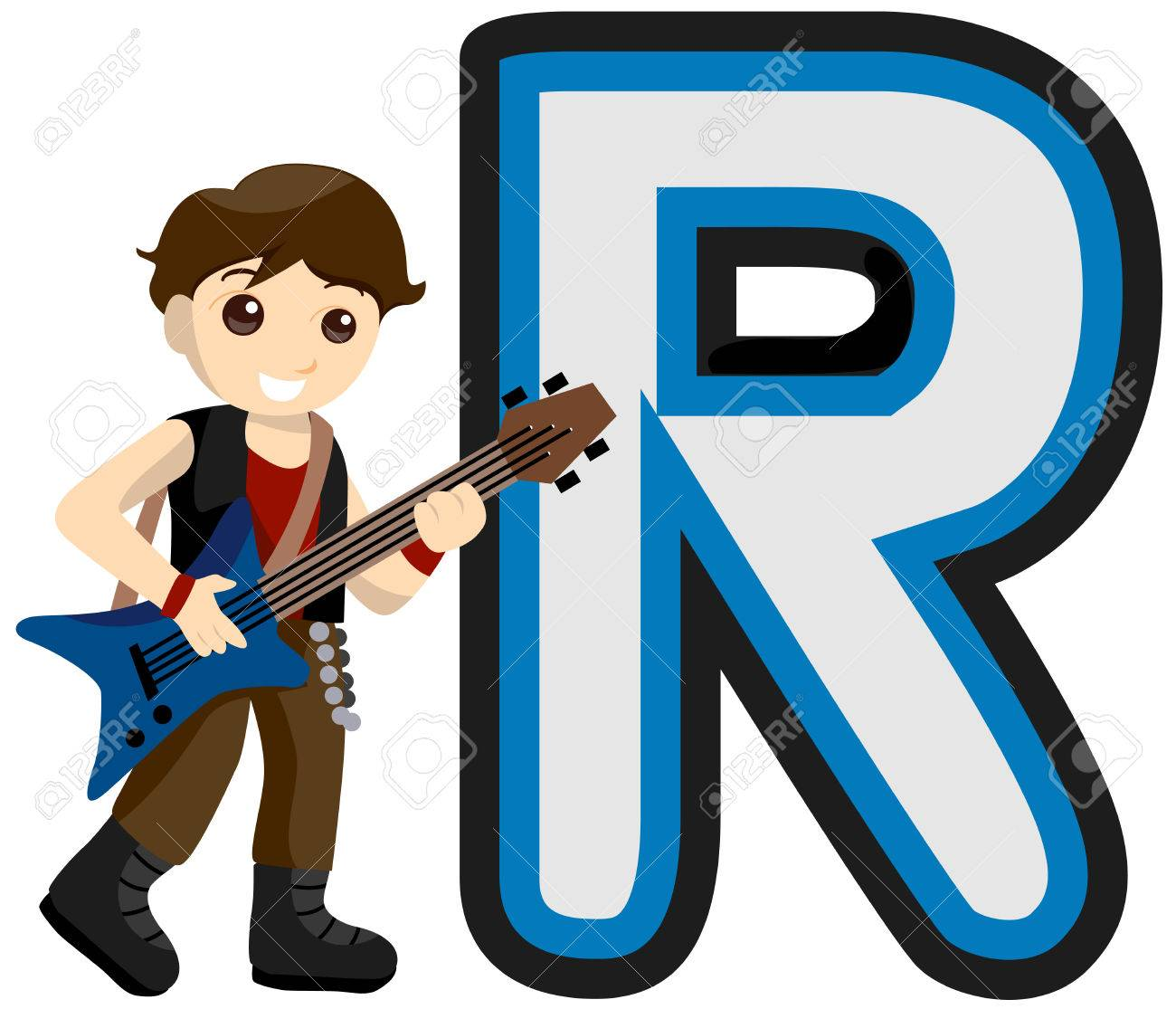 alphabet kids rock star with clipping path royalty free cliparts rh 123rf com