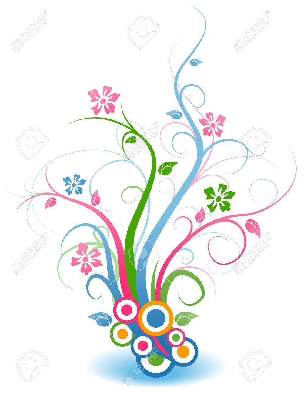 Floral Vines Stock Vector - 3547492