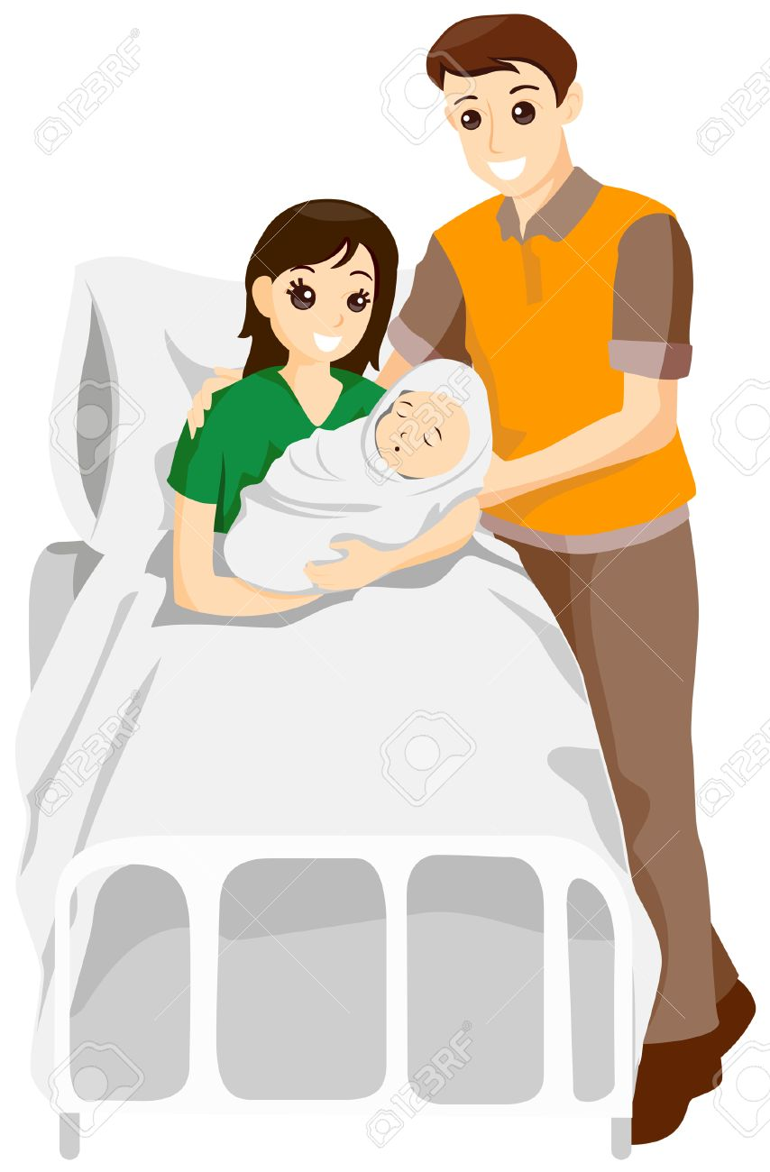 parents with newborn baby with clipping path royalty free cliparts rh 123rf com newborn baby clipart black and white new year's baby clipart