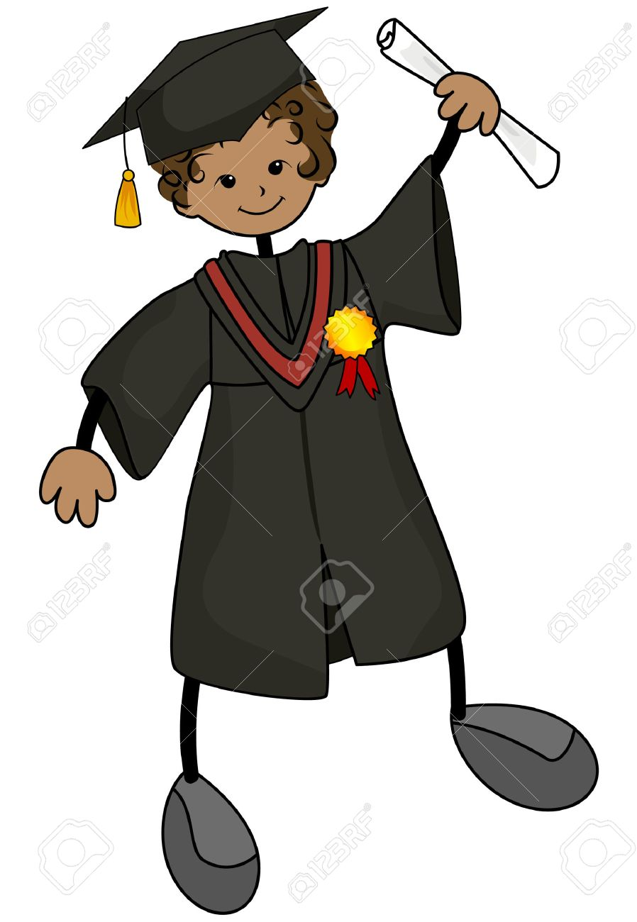 Young Graduate with Clipping Path Stock Vector - 3928201