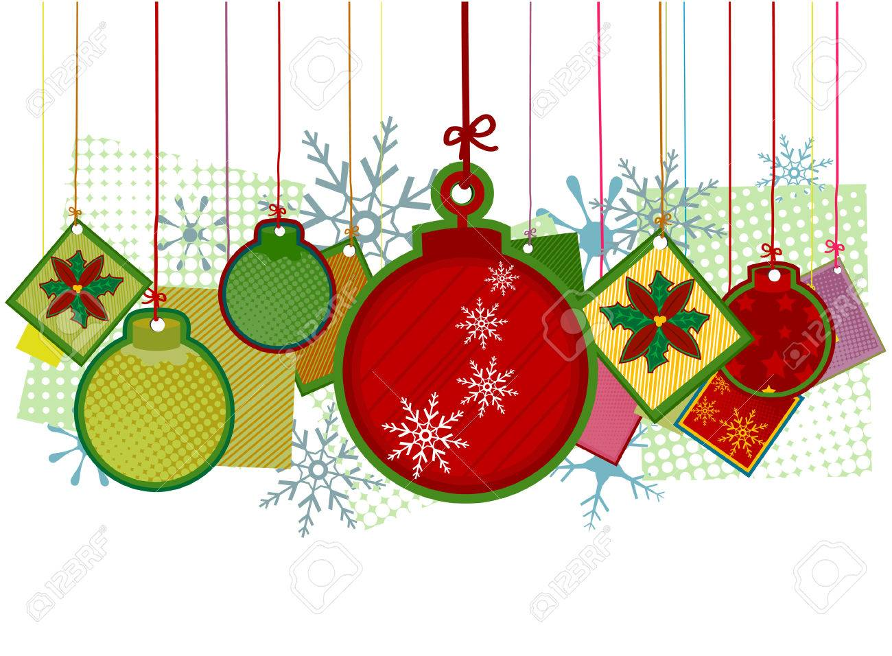 Christmas Decors With Clipping Path Royalty Free Cliparts, Vectors ...