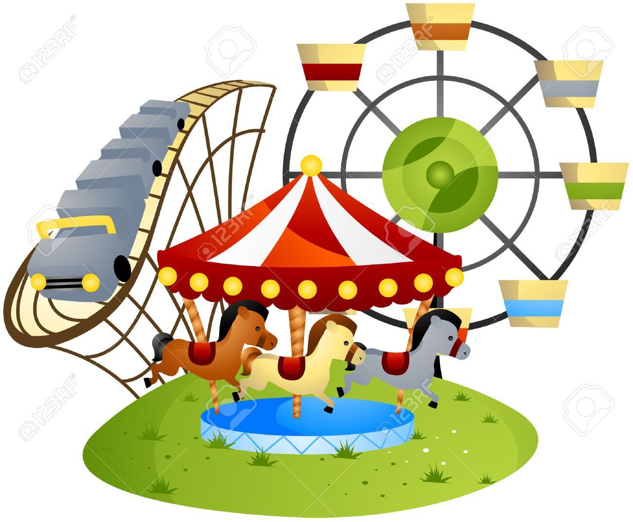 amusement park cartoon with clipping path royalty free cliparts rh 123rf com amusement park clip art border amusement park clip art border