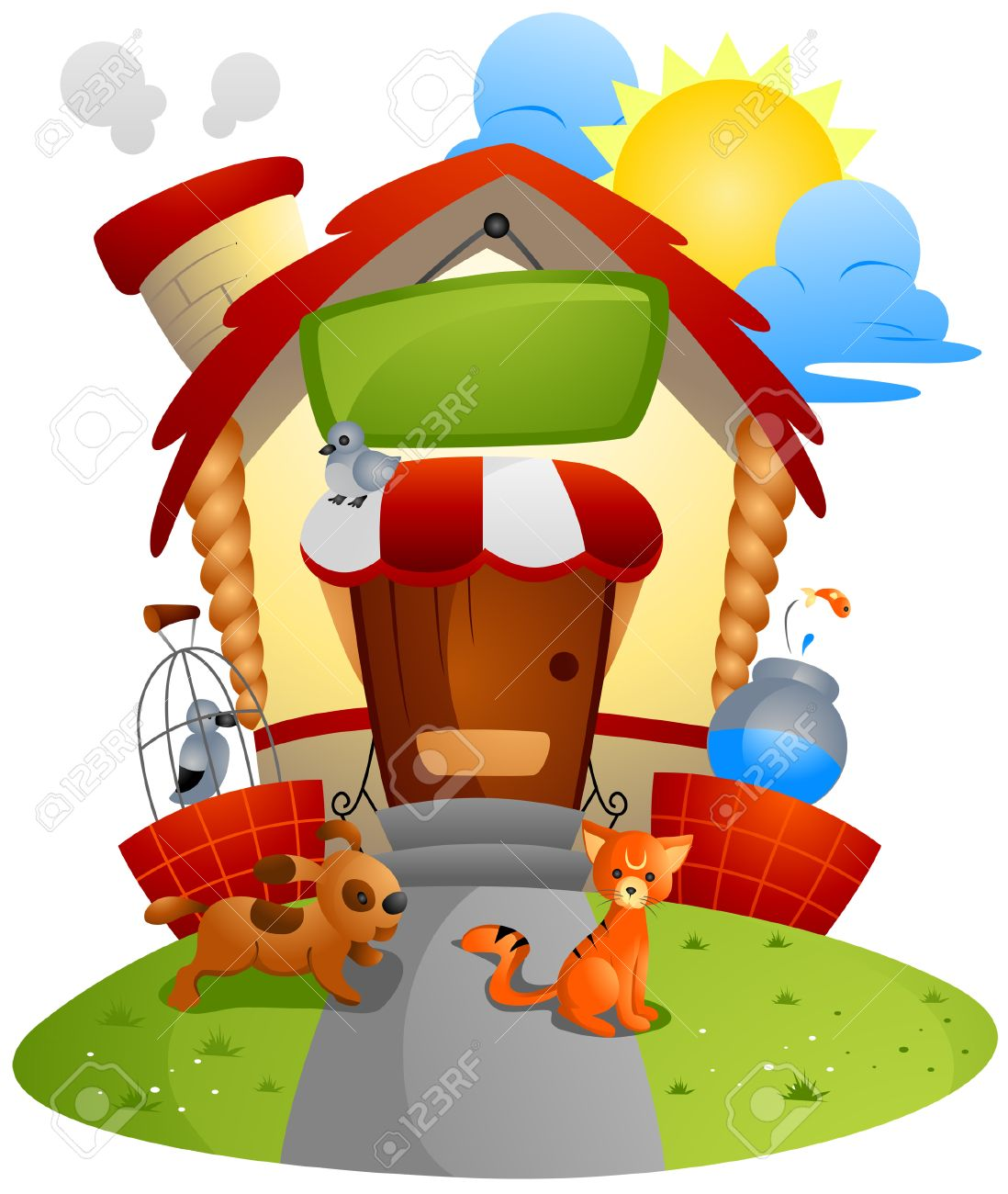 Pet Store with Clipping Path Stock Vector - 4206170
