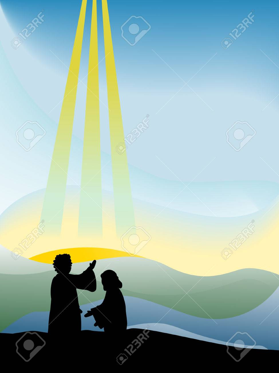 baptism of christ silhouette series royalty free cliparts vectors