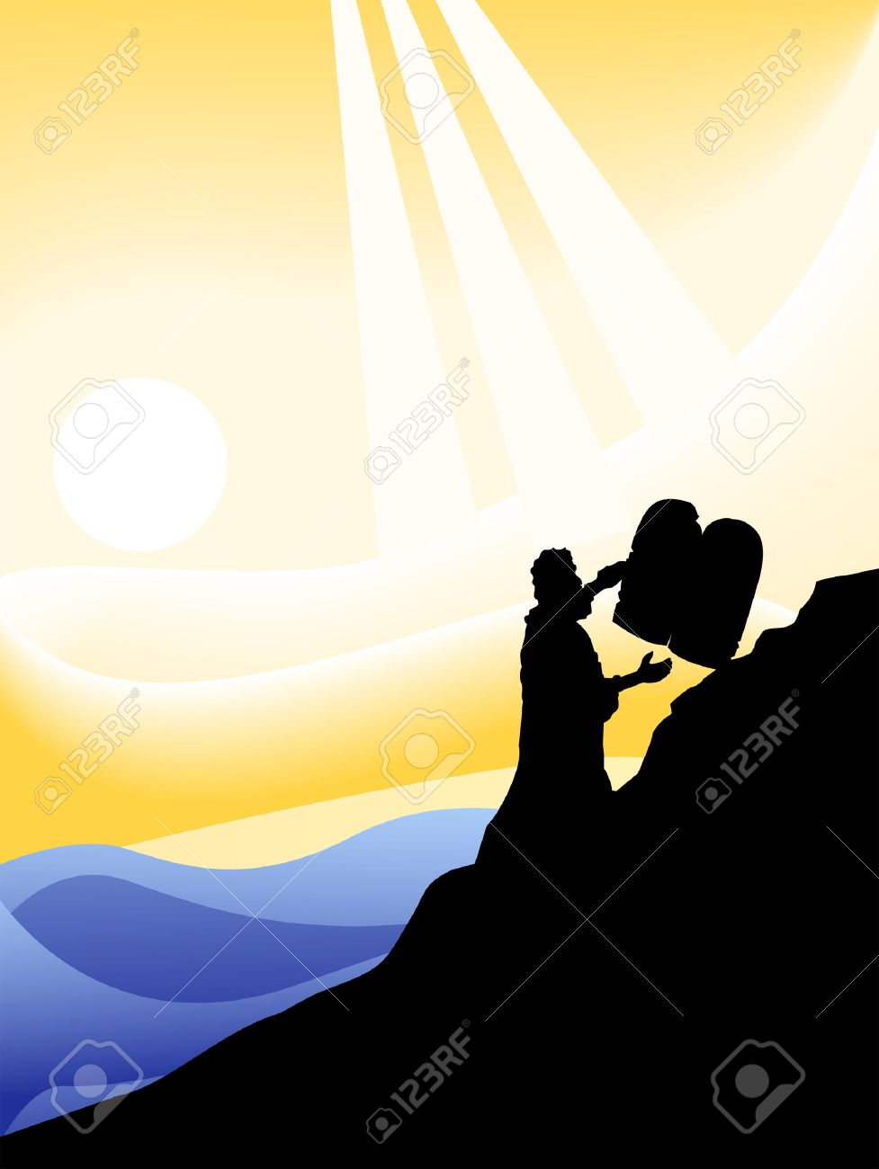 the ten commandments silhouette series royalty free cliparts