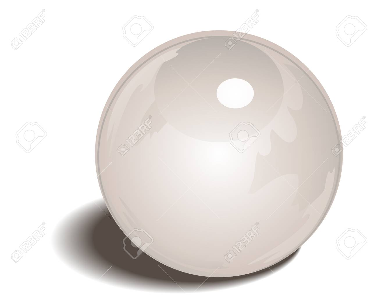 Pearl Birthstone with Clipping Path Stock Vector - 4211404
