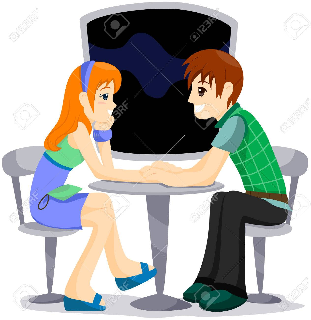 Date (Couple) with Clipping Path Stock Vector - 4246346