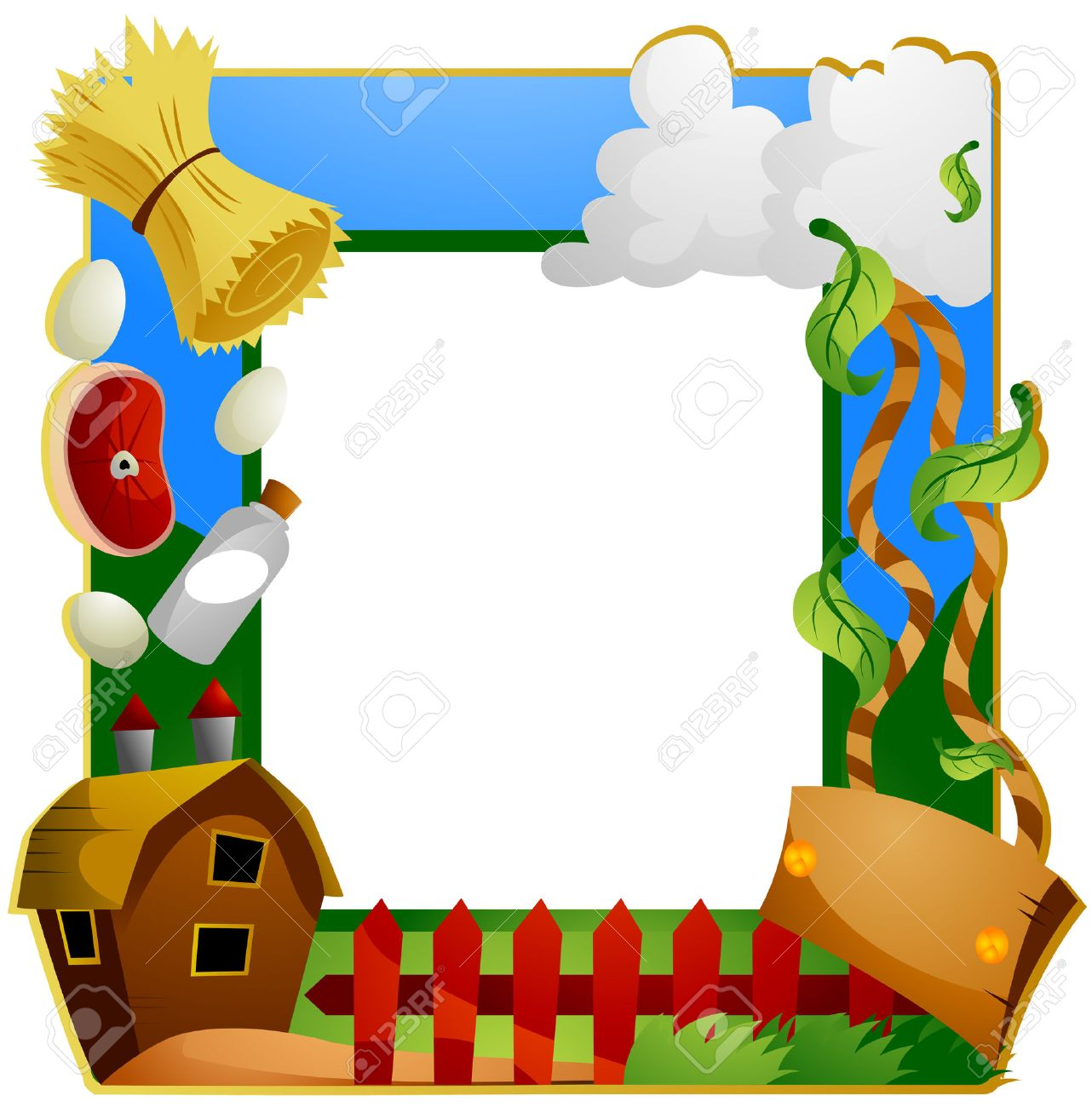 Farm Frame With Clipping Path Royalty Free Cliparts, Vectors, And ...