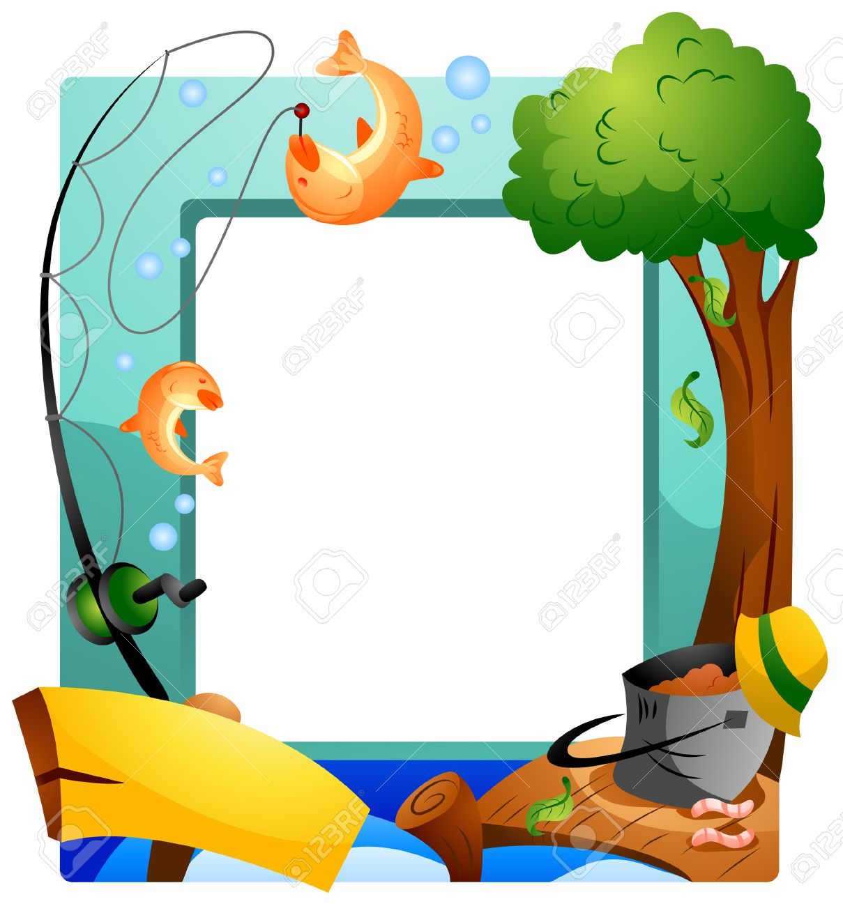 Fishing Frame With Clipping Path Royalty Free Cliparts, Vectors, And ...