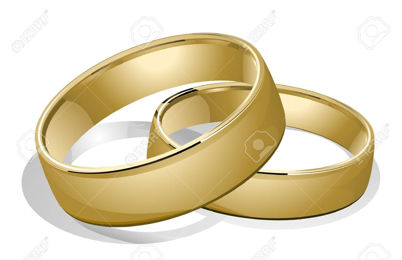 Vector Wedding Rings With Clipping Path