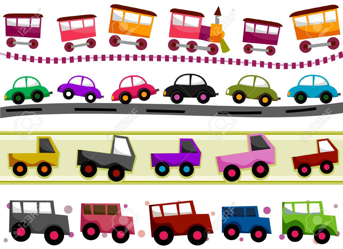 Transportation Border Set with Clipping Path Stock Vector - 5873314
