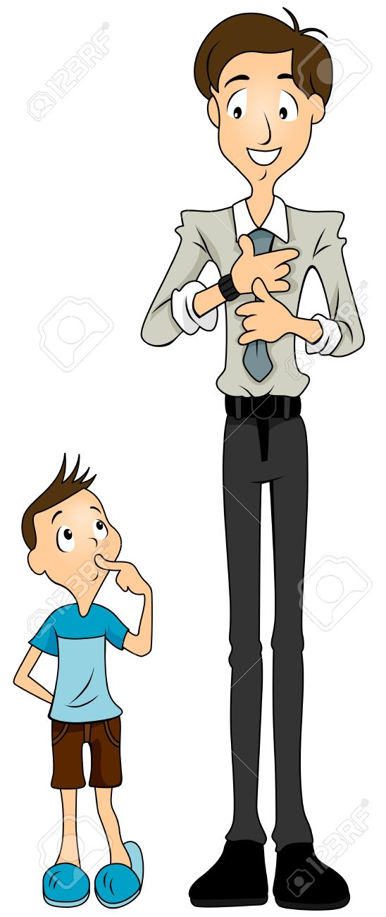 child looking at his father getting ready for work royalty free