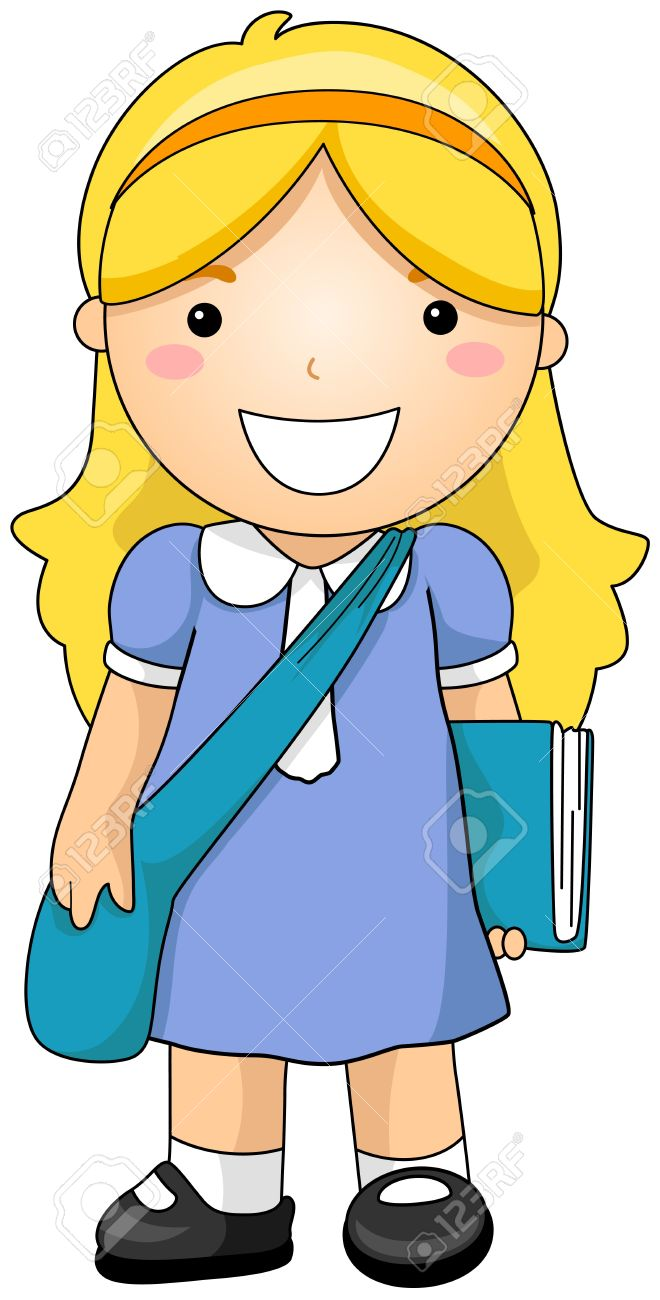 girl student stock photo picture and royalty free image image 6437415 rh 123rf com girl student thinking clipart girl student clipart black and white