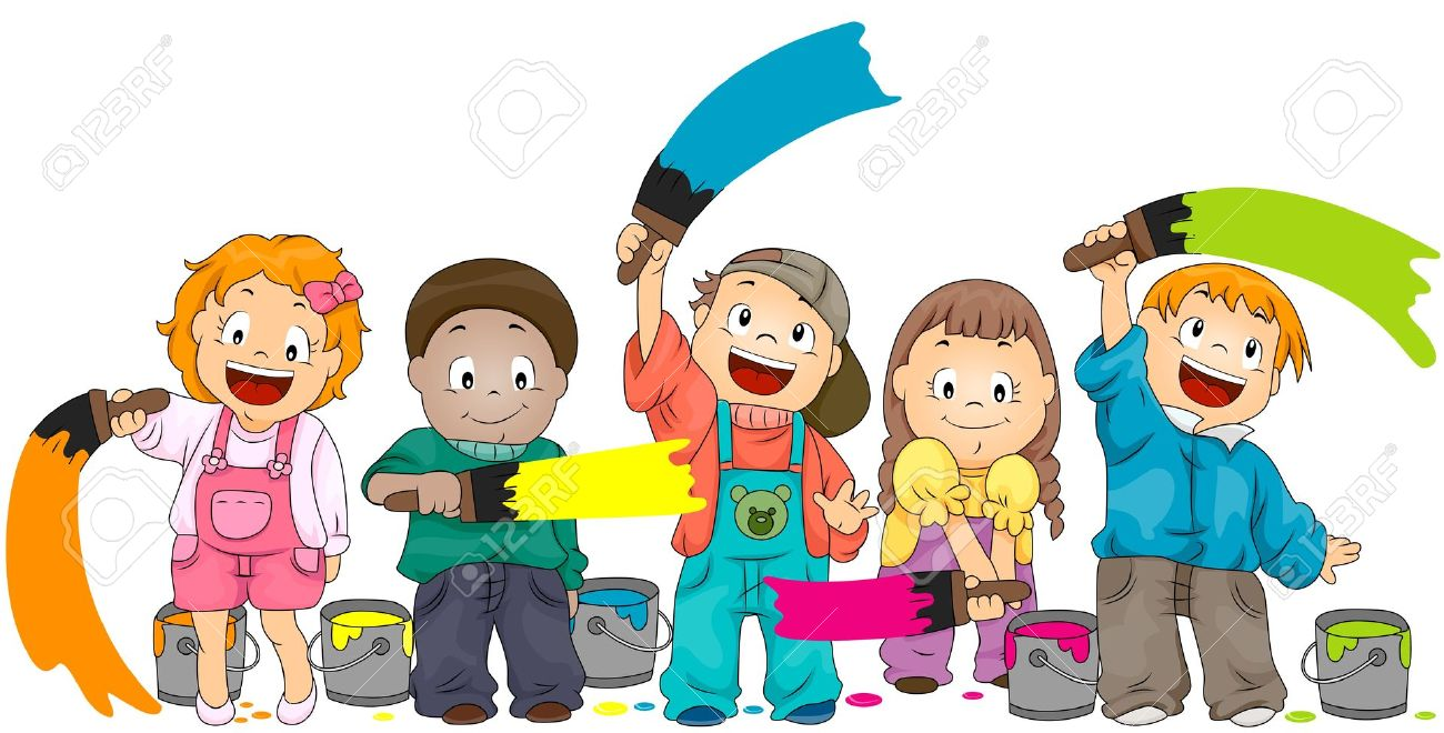 Children Painting Stock Photo, Picture And Royalty Free Image. Image  6652919.