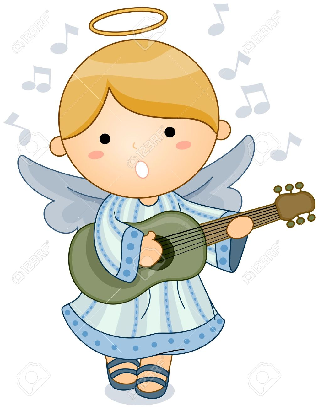 364 angels singing stock illustrations cliparts and royalty free