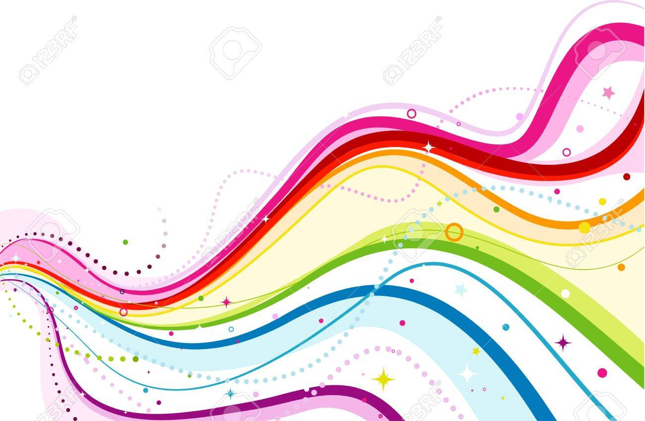 Abstract Rainbow Wave Design Stock Photo, Picture And Royalty Free ...