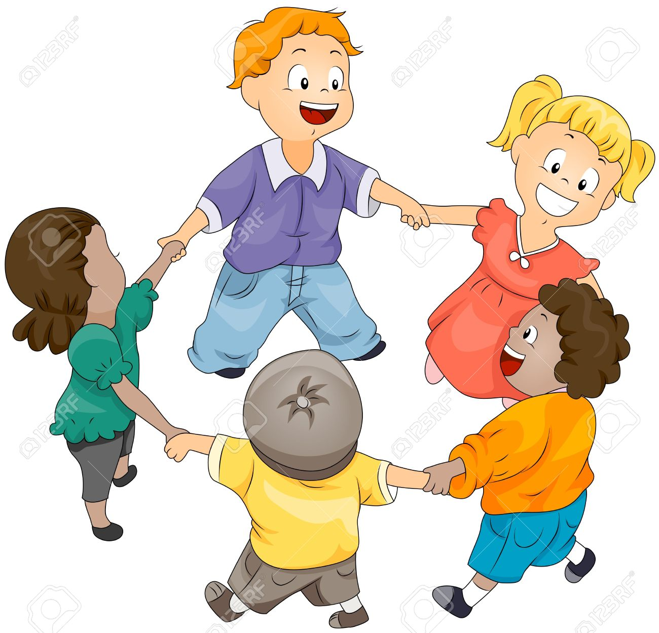 Niños en círculo  Foto de archivo - 6810764