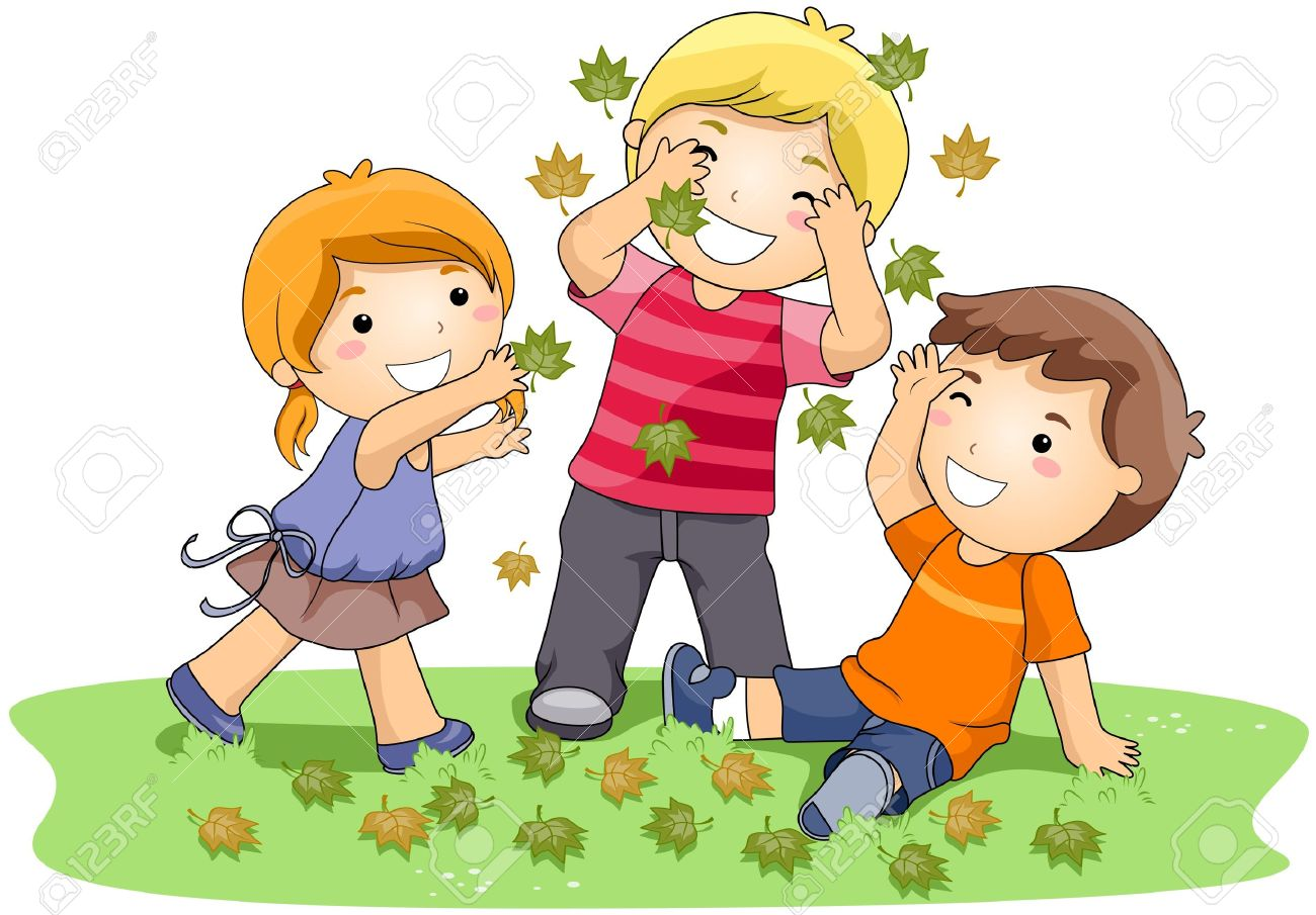 children playing with leaves in the park stock photo picture and rh 123rf com Playing Together Clip Art Playing Together Clip Art