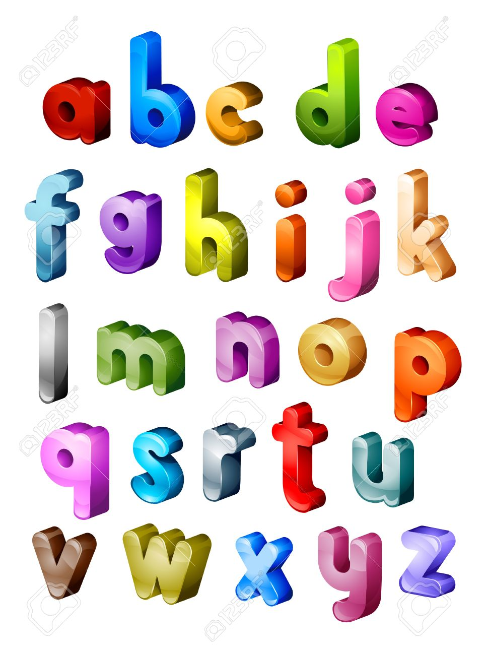 Worksheet Letters Of Alphabet isometric alphabet in small letters stock photo picture and 7394219