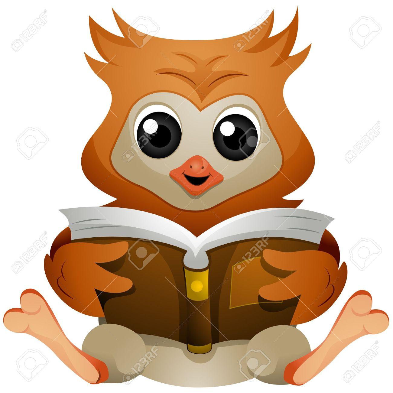 Cartoon Pics Reading Books Owl Reading Book Cartoon