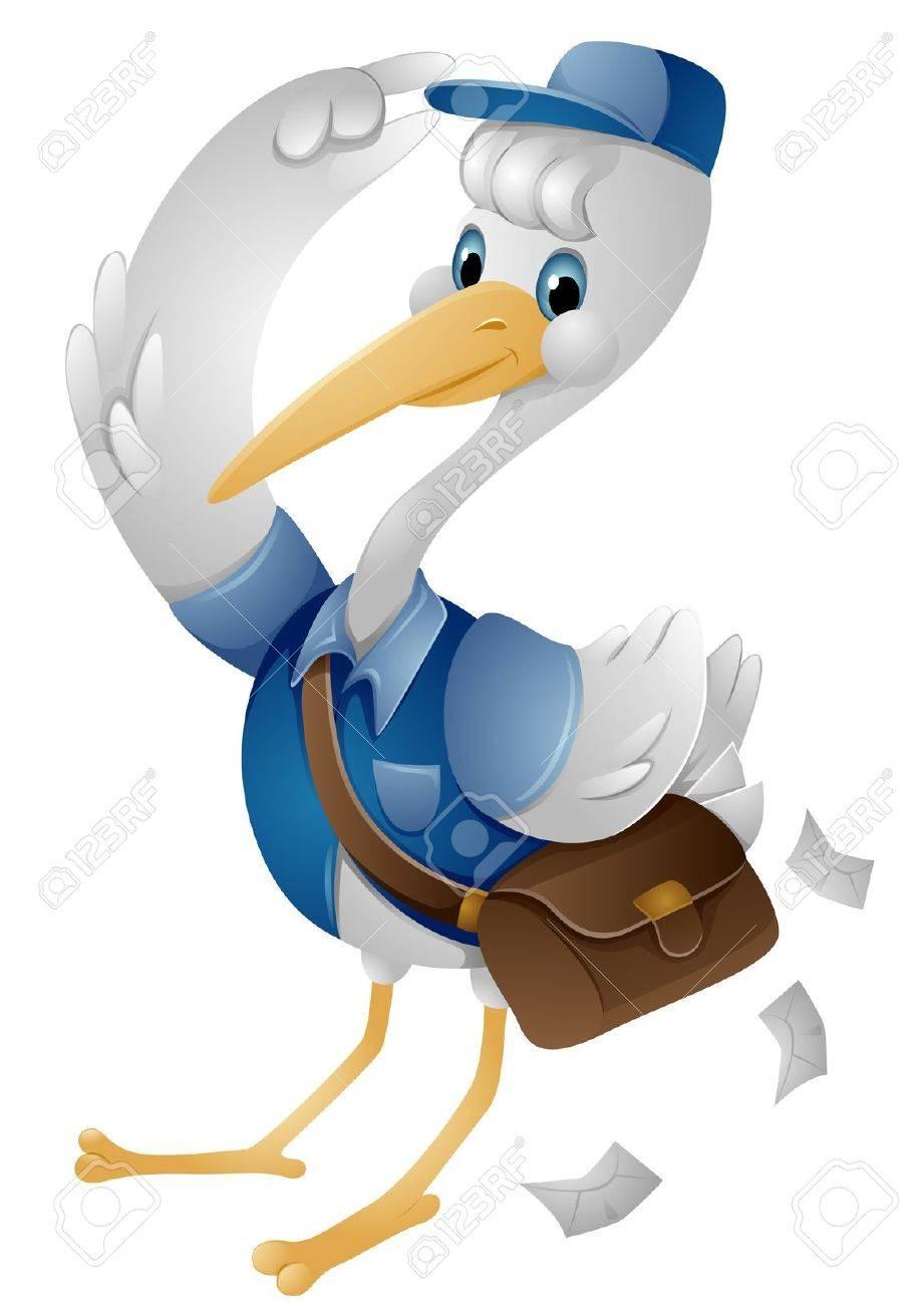 Stork Mailman Stock Photo - 7465165