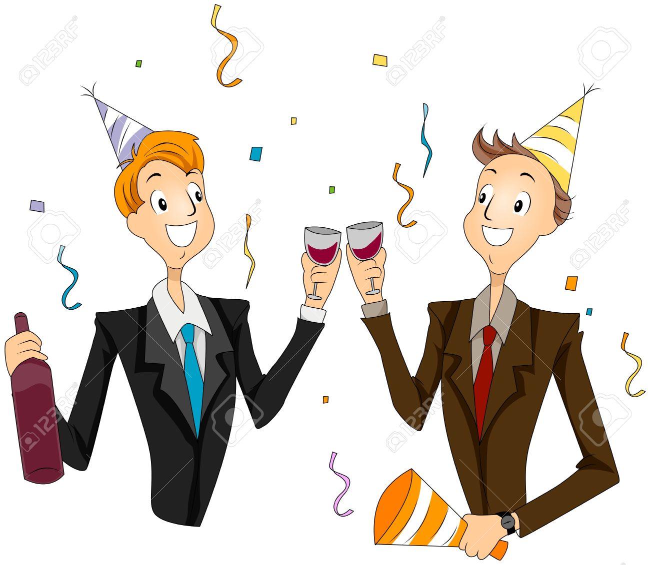 Resultado de imagen de anniversary party cartoon