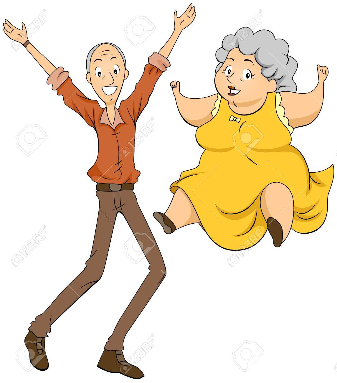 Grandparents Jumping Stock Photo - 7588448