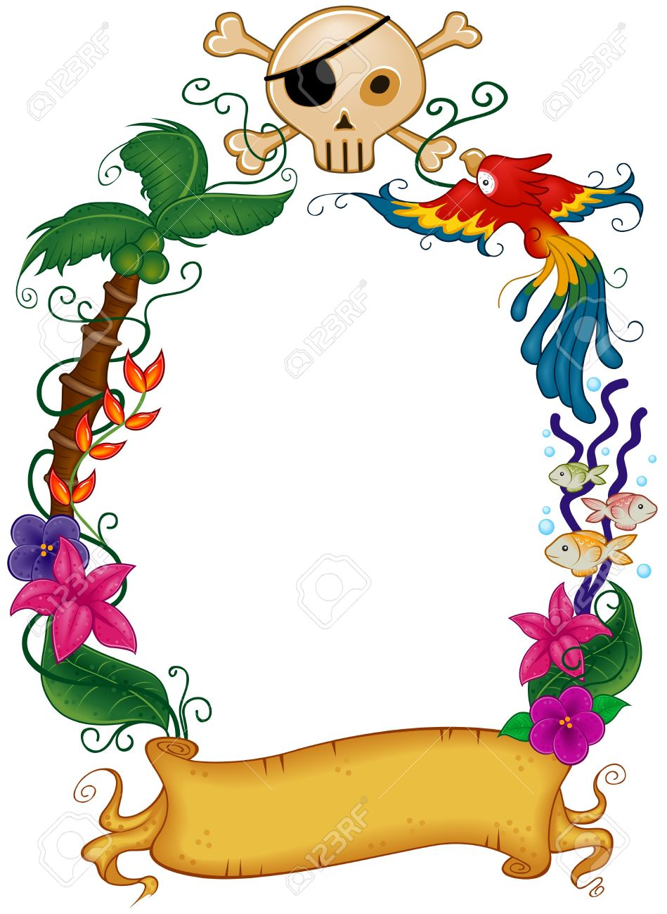 Pirate Themed Frame Stock Photo, Picture And Royalty Free Image ...