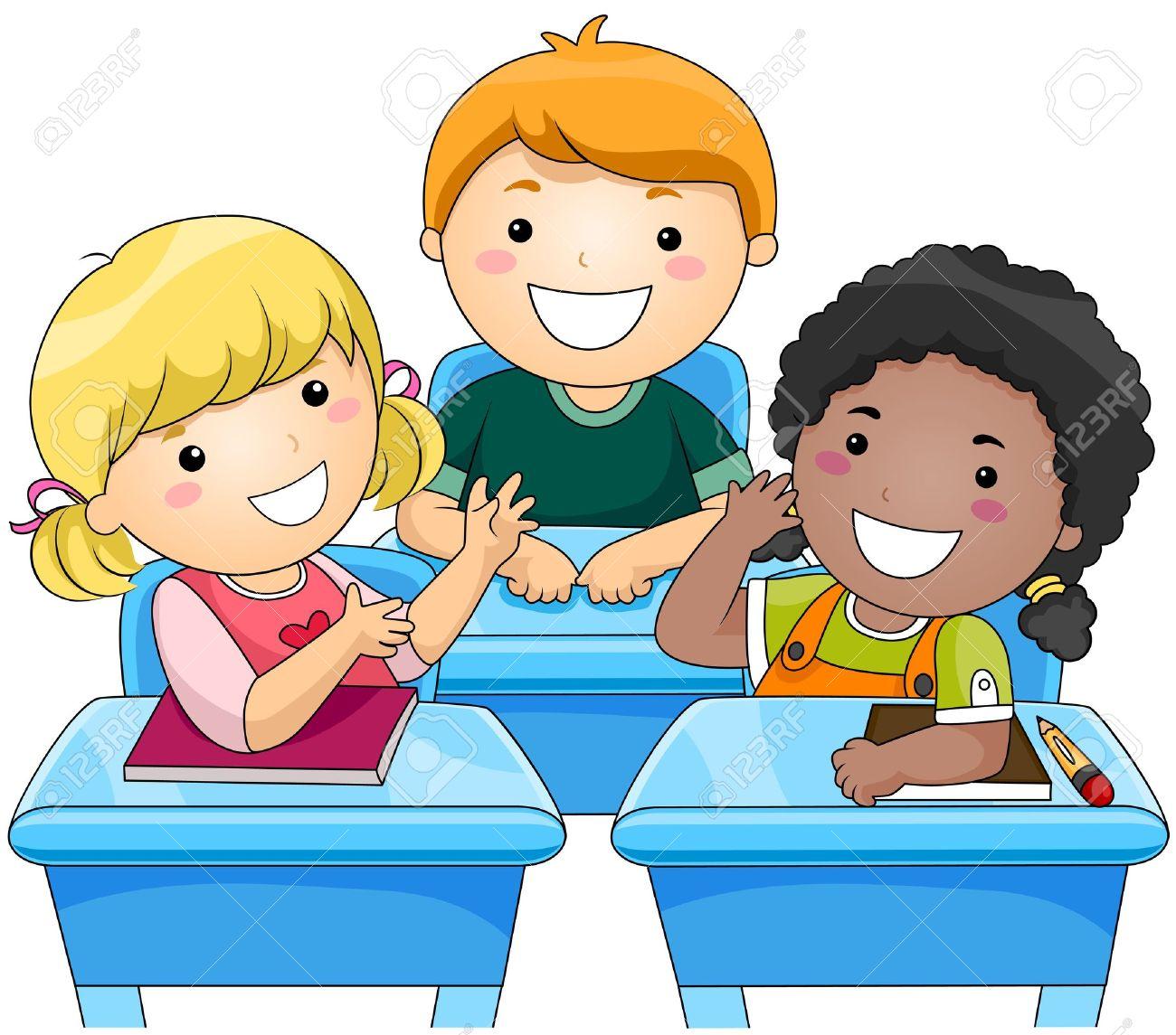 Schulklasse im unterricht clipart  Kinder-Diskussion Lizenzfreie Fotos, Bilder Und Stock Fotografie ...