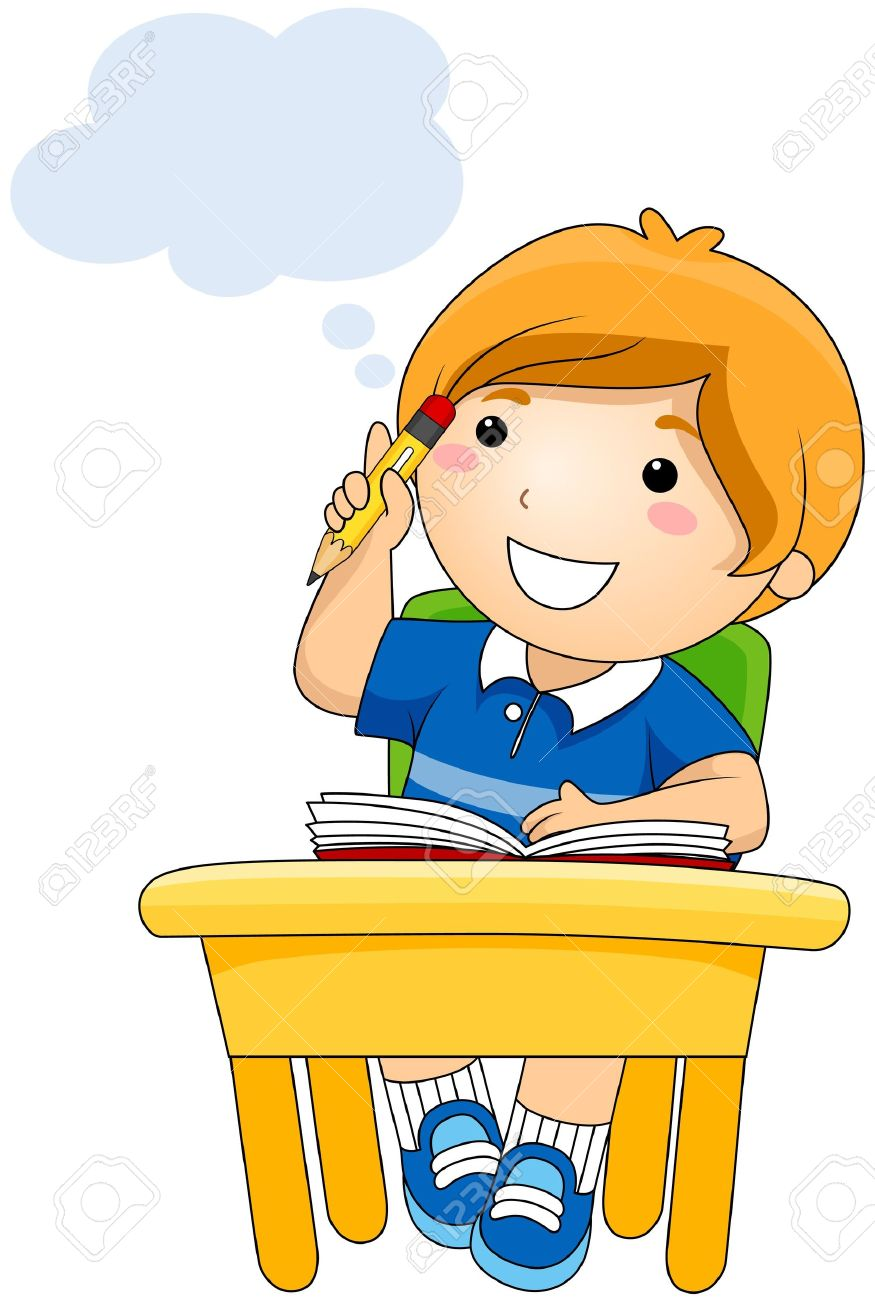 boy thinking stock photo picture and royalty free image image 7615494 rh 123rf com clipart image of a child thinking