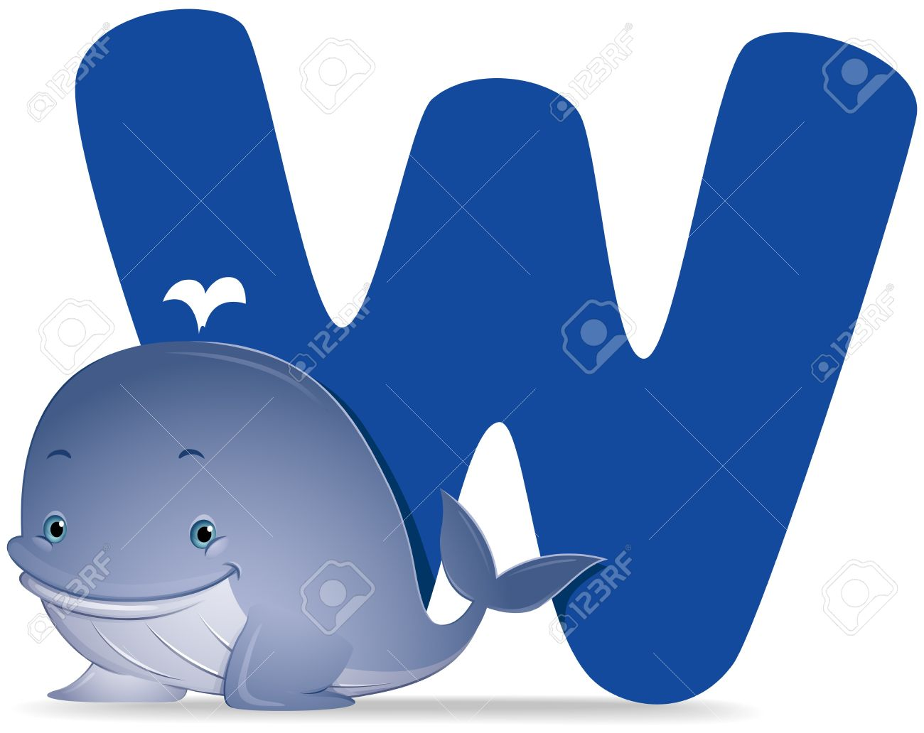 W For Whale Stock Photo, Picture And Royalty Free Image. Image ...