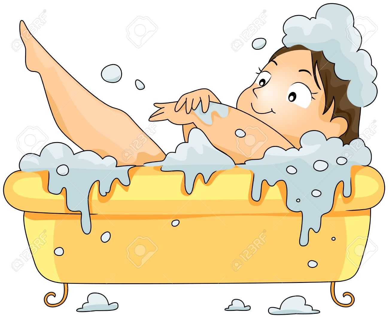 plump woman in bubble bath stock photo picture and royalty free rh 123rf com dog bubble bath clipart girl in bubble bath clipart