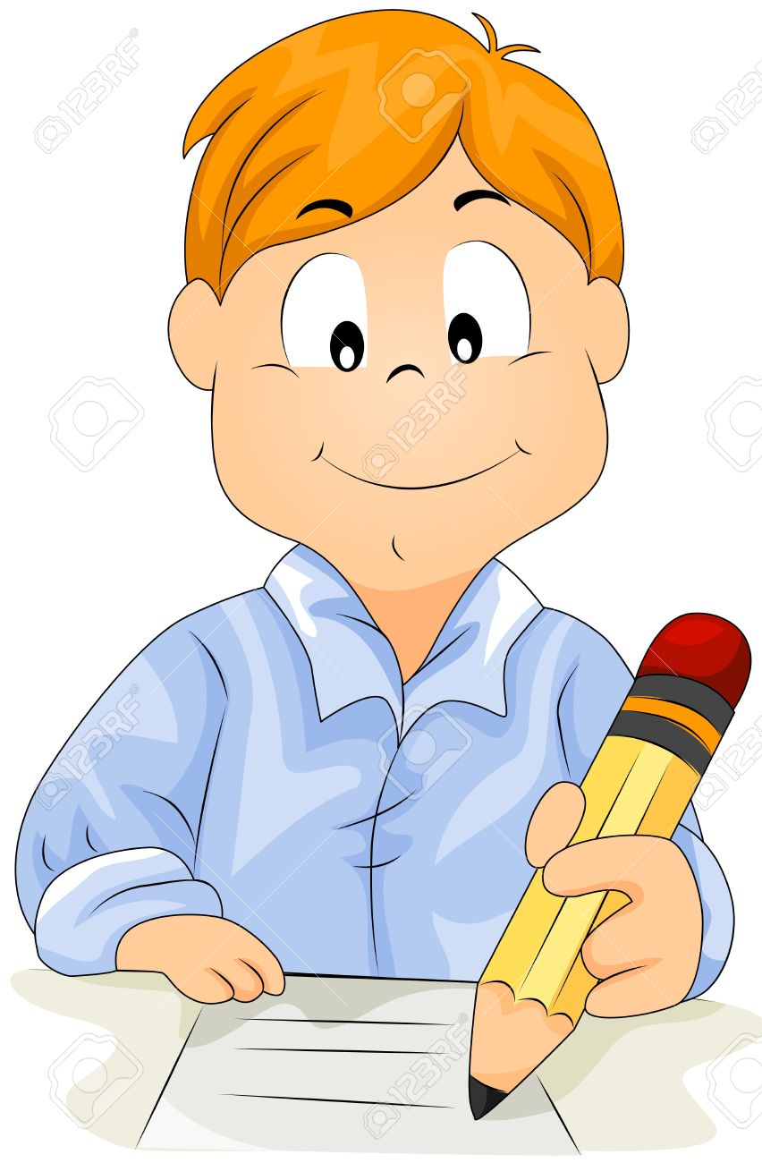 boy writing stock photo picture and royalty free image image 7701896 rh 123rf com write clipart free don't write clipart