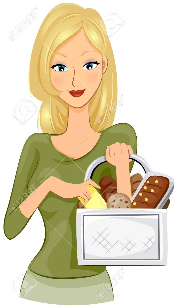 Girl buying Bread Stock Photo - 7724460