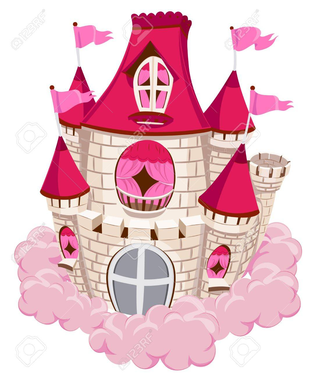 Pink Castle on a Cloud Stock Photo - 7855007